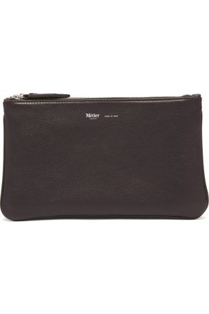 Métier Larger Things Trio Leather And Linen Pouch - Mens - Multi