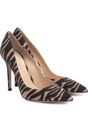 Gianvito Rossi Gianvito 105 printed suede pumps
