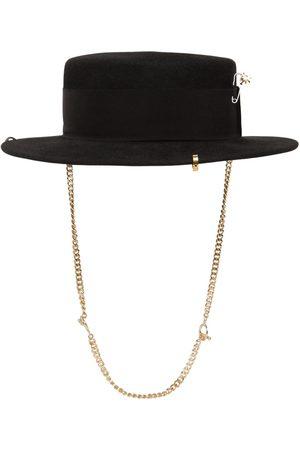 Ruslan Baginskiy Women Hats - Piercing Boater Felted Hat