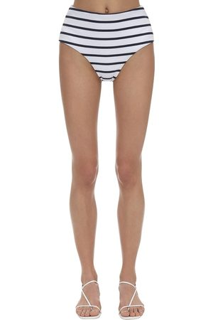 Eberjey Women Swimwear - Retro Striped Stretch Nylon Rib Bottoms