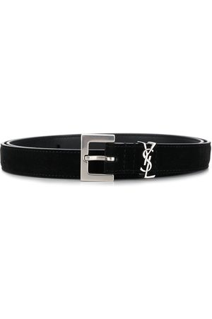 Saint Laurent Monogram square-buckle belt