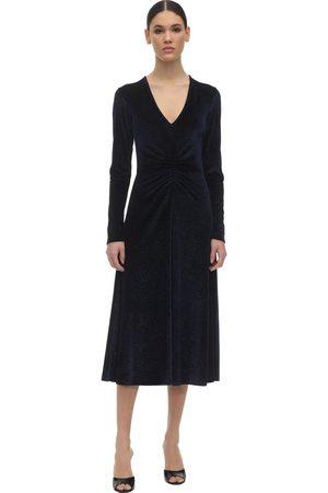 ROTATE Women Midi Dresses - Crystal Embellished Velvet Midi Dress