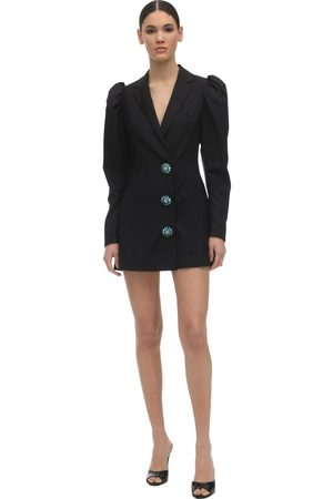 ROTATE Women Blazers - Embellished Wool Blend Blazer Dress