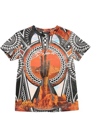 Balmain Printed Cotton Jersey T-shirt