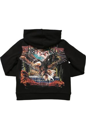 Balmain Boys Sweatshirts - Printed Cotton Zip-up Sweatshirt