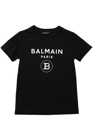 Balmain Logo Printed Cotton Jersey T-shirt