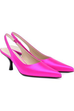 The Row Bourgeois satin slingback pumps