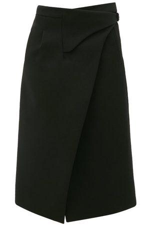 WARDROBE.NYC Women Midi Skirts - Release 05 Wool Wrap Midi Skirt - Womens