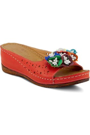 Spring Step Women's Flower Child Slide Wedge Sandal