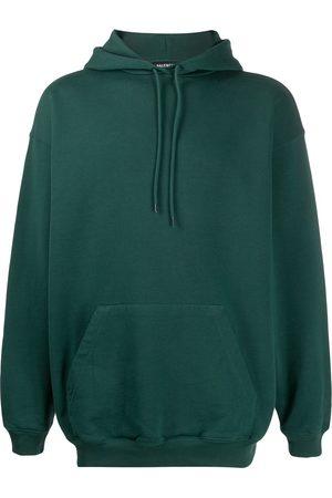 Balenciaga Men Hoodies - Printed logo hoodie