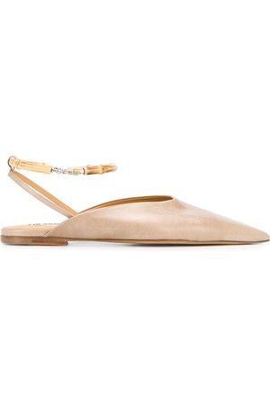 Jil Sander Pointed ballerina shoes - NEUTRALS