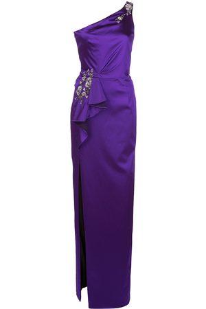 Marchesa Notte Women Evening dresses - Embellished one shouldered evening dress