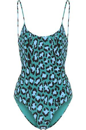 Diane von Furstenberg Gabriela leopard-print swimsuit