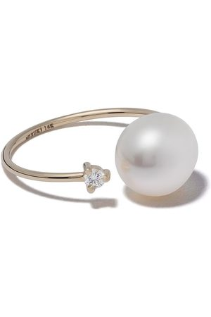 Mizuki Women Rings - 14kt yellow pearl and diamond open ring