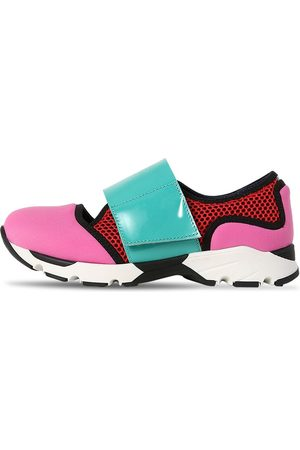 Marni Leather & Neoprene Strap Sneakers