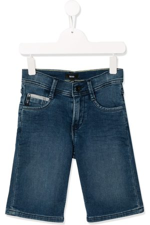 HUGO BOSS Stonewashed denim shorts