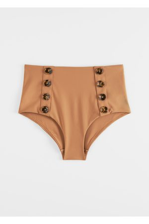 & OTHER STORIES High Waisted Button Bikini Briefs