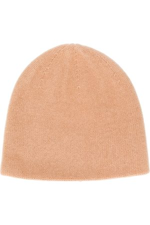N.PEAL Beanies - Double layer knit beanie