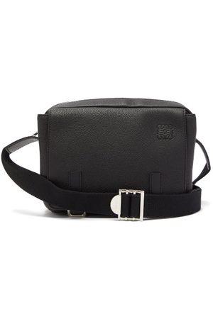 Loewe Grained Leather Messenger Bag - Mens