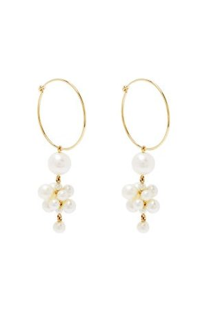 SOPHIE BILLE BRAHE Boticelli Pearl & 14kt Gold Hoop Single Earring - Womens - Pearl