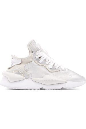 Y-3 Kaiwa Thick-sole Metallic-leather Trainers - Mens