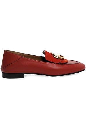 Chloé Women's C Leather & Nubuck Loafers - - Size 38 (8)