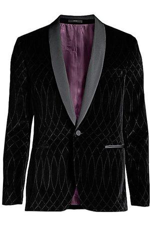 Paul Smith Men's Laser-Printed Velvet Blazer - - Size 44 (34)