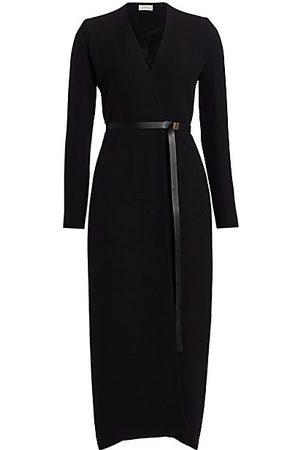 The Row Women's Vana Belted Silk Wrap Dress - - Size Medium