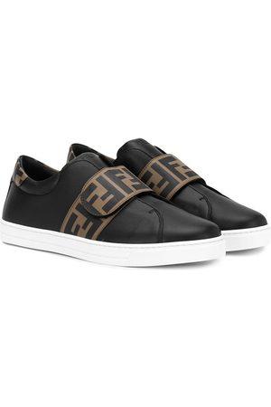 Fendi Kids TEEN logo strap sneakers