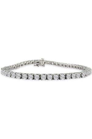 SuperJeweler 6 Carat Classic Diamond Tennis Bracelet Set in 14k