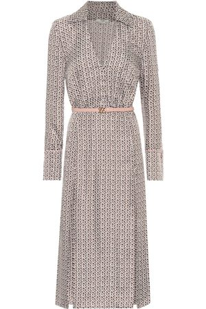 Fendi Printed silk midi dress