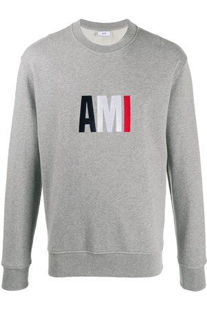 AMI Paris Logo sweatshirt - Grey