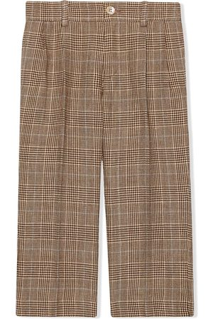 Gucci Boys Formal Pants - Check tailored trousers - Neutrals