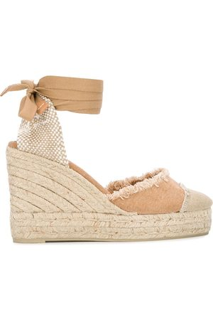 Castaner Catalina frayed wedge espadrilles - NEUTRALS