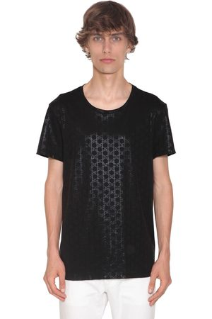 Balmain Bb Monogram Print Cotton Jersey T-shirt