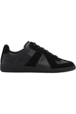 Maison Margiela Replica Leather & Suede Low Top Sneakers