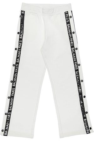 Balmain Cotton Sweatpants W/snap Button Sides