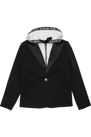 Balmain Hooded Cotton Gabardine Jacket