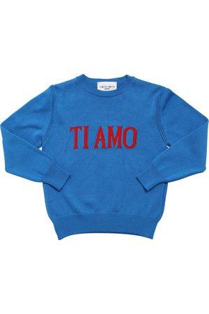 Alberta Ferretti Ti Amo Intarsia Cotton Knit Sweater