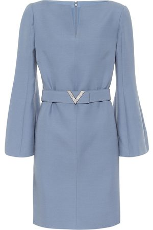 VALENTINO Belted wool and silk minidress