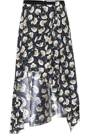 Chloé Women Midi Skirts - High-rise stretch-silk midi skirt