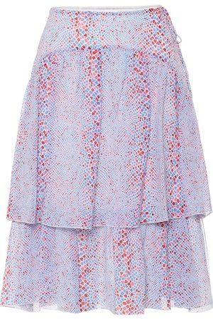 Chloé Printed cotton and silk midi skirt