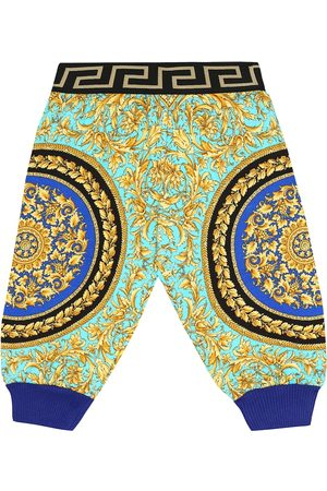 VERSACE Baby printed cotton trackpants