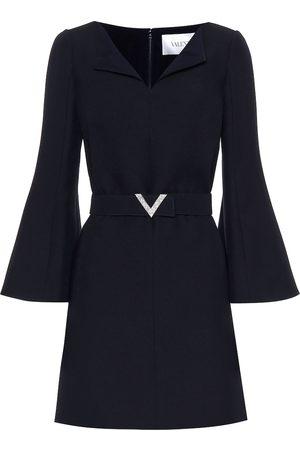 VALENTINO Wool and silk crêpe minidress