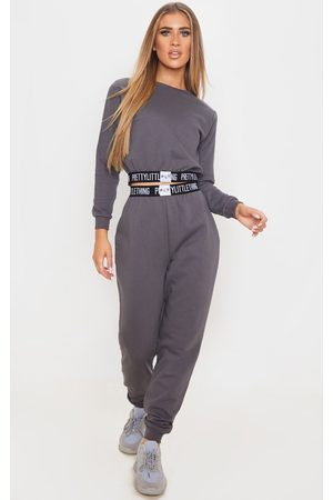 PRETTYLITTLETHING Charcoal Grey Lounge Jogger