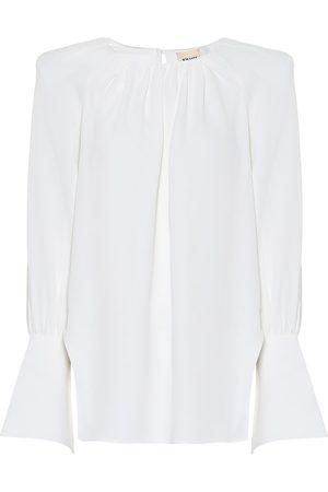 Khaite Kirsty crêpe blouse