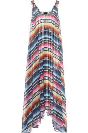 Alanui Sarape sequinned striped maxi dress