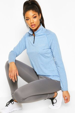 Boohoo Womens Fit Woman Funnel Neck Marl Top - - 2