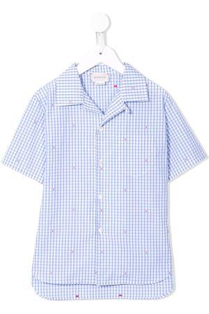 Gucci Gingham logo detail shirt