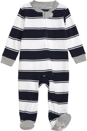 Burt's Bees Infant Boy's Stripe Organic Cotton Footie
